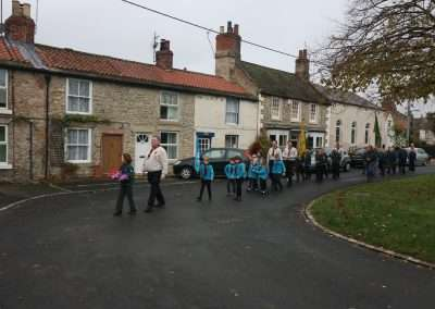 Beavers _ Cubs Marching Remembrance Sunday